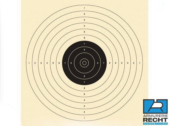 CIBLES PISTOLET 10m. (officiel ISSF)