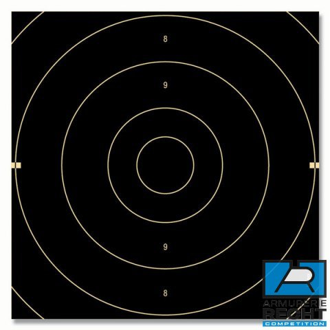 CENTRE DE CIBLES PISTOLET 25m V.O. (officiel ISSF)