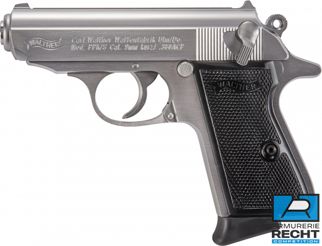 PISTOLET WALTHER PPK/S STAINLESS 9MM SHORT